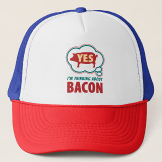 Amusing Thought Bubble Bacon Slogan Trucker Hat