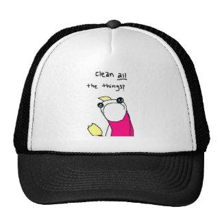 Amusing worm from comics mesh hat