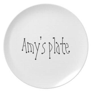 Amy Custom Name Plate