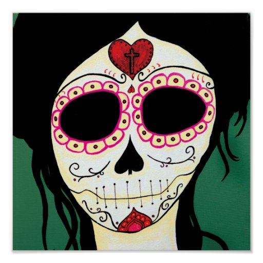 Amy  Sugar Skull Skeleton Print