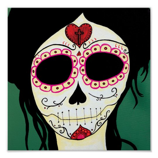 Amy  Sugar Skull Skeleton Print