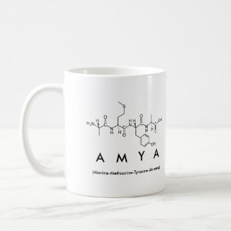 Amya peptide name mug