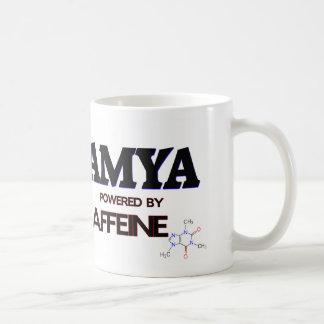 Amya powered by caffeine mugs