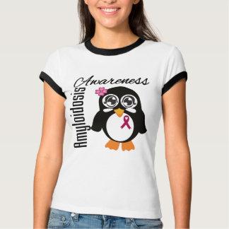 Amyloidosis Awareness Penguin Tee Shirt