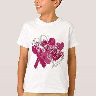 Amyloidosis Burgundy Love Hope Cure T-shirts
