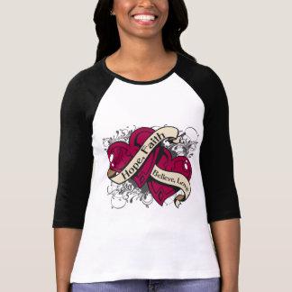 Amyloidosis  Hope Faith Dual Hearts T-Shirt