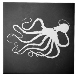 Amy's Octopus 1 R - Large Ceramic Tile