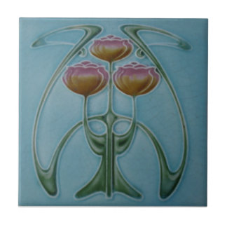 AN001 Art Nouveau Reproduction Antique Tile