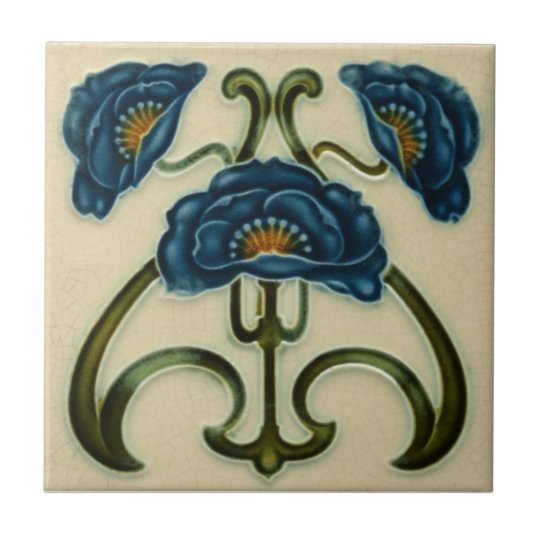 AN003 Art Nouveau Reproduction Antique Tile