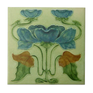 AN029 Art Nouveau Reproduction Antique Tile