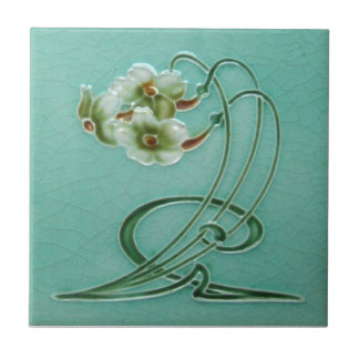AN033 Art Nouveau Reproduction Antique Tile