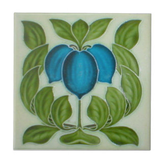 AN034 Art Nouveau Reproduction Antique Tile