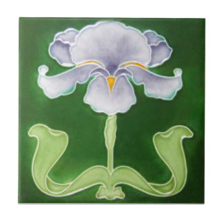 AN037 Art Nouveau Reproduction Antique Tile