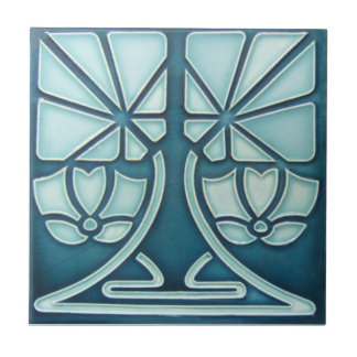 AN073 Art Nouveau Reproduction Antique Tile