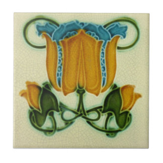 AN092 Art Nouveau Reproduction Antique Tile