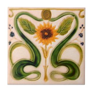 AN113 Art Nouveau Reproduction Antique Tile