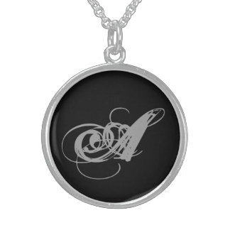 An A for you! Round Pendant Necklace