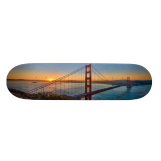 An absolutely stunning sunrise custom skate board