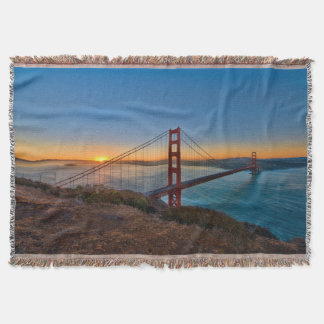 An absolutely stunning sunrise throw blanket
