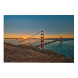 An absolutely stunning sunrise wood canvas