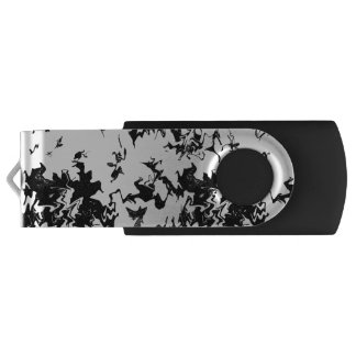 An abstract black paint design  Designed with love USB Flash Drive