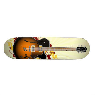 An Abstract Guitar Skate Boards