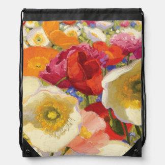 An Abundance of Flowers Drawstring Bag