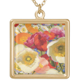 An Abundance of Flowers Gold Plated Necklace