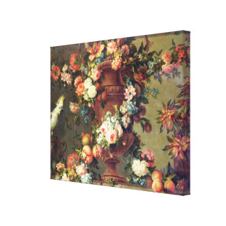 An Abundance of Fruit and Flowers Canvas Print
