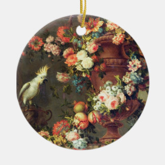 An Abundance of Fruit and Flowers Christmas Ornament