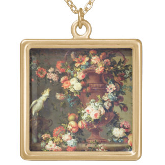 An Abundance of Fruit and Flowers Gold Plated Necklace