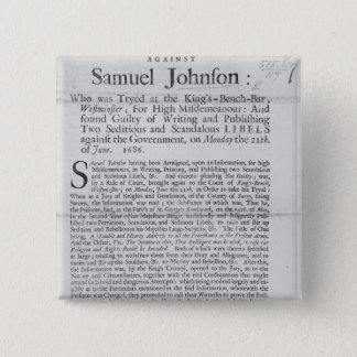 An Account of the Proceedings 15 Cm Square Badge