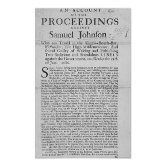 An Account of the Proceedings Poster