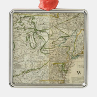 An Accurate Map Of North America Northern section Christmas Ornament