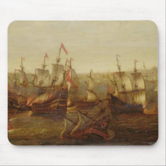 An Action between Spanish Ships and Barbary Galley Mouse Mat