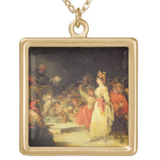 An Actress before the Inquisition (see also 58999) Square Pendant Necklace