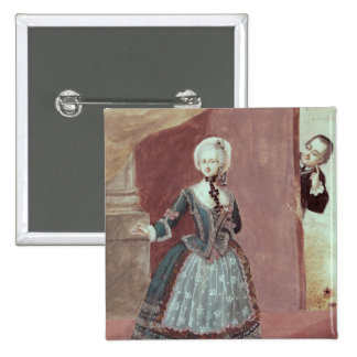 An Actress in the Role of Rosine 15 Cm Square Badge