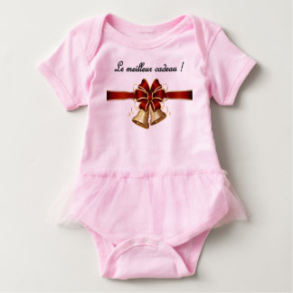 An adorable Christmas onsie or grenouillere Baby Bodysuit