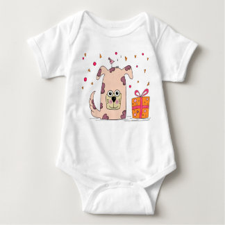 An adorable puppy for your lil one. baby bodysuit