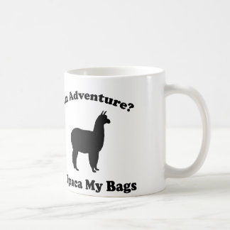 An Adventure? Alpaca My Bags Basic White Mug