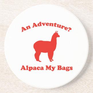 An Adventure? Alpaca My Bags Coaster