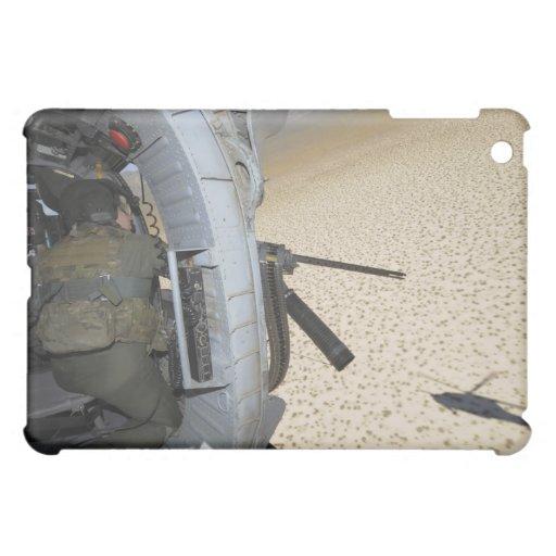 An aerial gunner scans terrain iPad mini covers