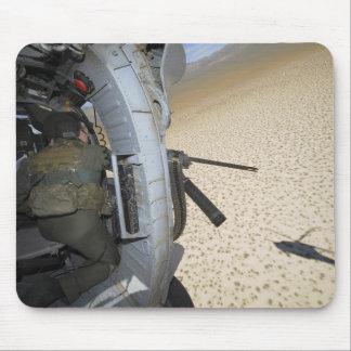 An aerial gunner scans terrain mouse mat