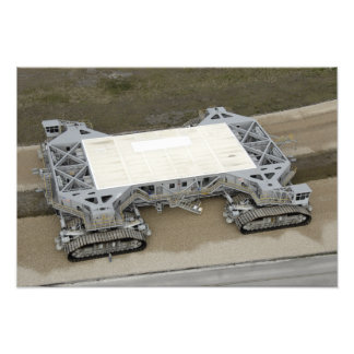 An aerial view of the crawler-transporter photo print