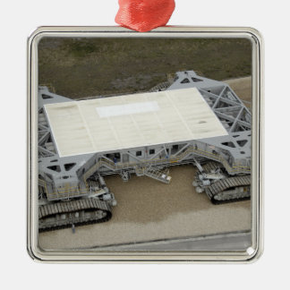 An aerial view of the crawler-transporter Silver-Colored square decoration