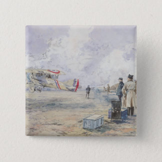 An Aeroplane Taking Off, 1913 15 Cm Square Badge