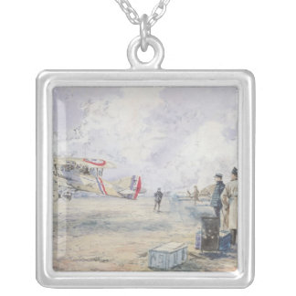 An Aeroplane Taking Off, 1913 Silver Plated Necklace