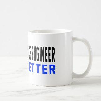 An Aerospace engineer Do it better Basic White Mug