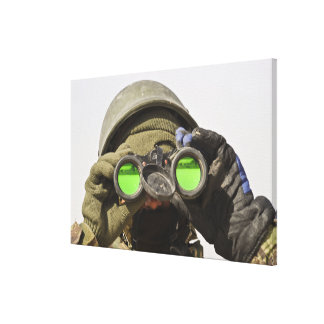 An Afghan soldier scans the horizon Canvas Print