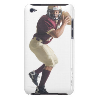 an african american man in a red and white iPod touch Case-Mate case